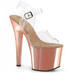 Sandale platforma inalta papuci dansatoare de club RADIANT 708