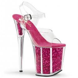 Sandale cu toc inalt papuci de club FLAMINGO 808 G