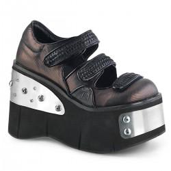 Pantofi stil gotic demonia talpa lata catifea KERA 13