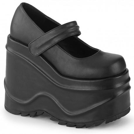 Pantofi demonia gotic grunge alternative talpa inalta WAVE 32