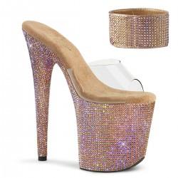 Sandale cu platforma inalta papuci dansatoare BEJEWELED 812 RS