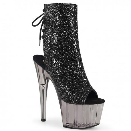 Botine toc inalt glitter papuci animatoare ADORE 1018 GT
