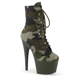 Botine toc inalt papuci dansatoare ADORE 1020 CAMO