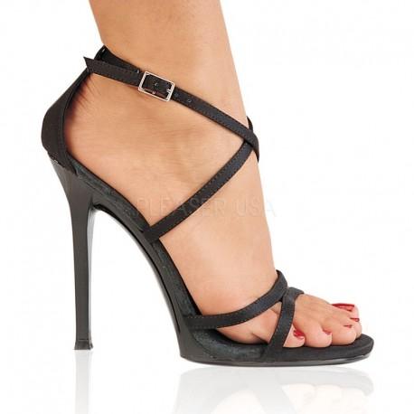 Sandale comode din satin GALA 41 Satin