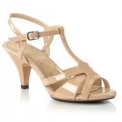 Sandale de mireasa cu toc mic marimi mari BELLE 322