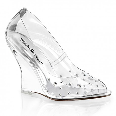 Sandale transparente mireasa LOVELY 450