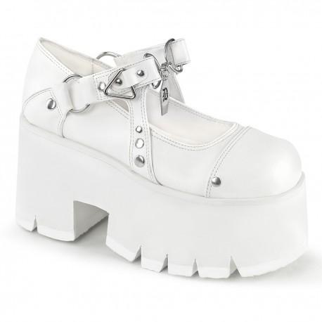 Pantofi demonia gotic talpa inalta piele ASHES 33