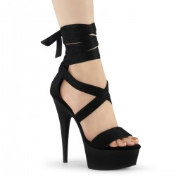 Sandale toc inalt marimi mari papuci animatoare hostess DELIGHT 634